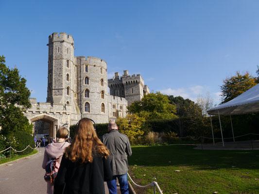 """Zum oberen Teil  """"Upper Ward"""" des Schlosses"""