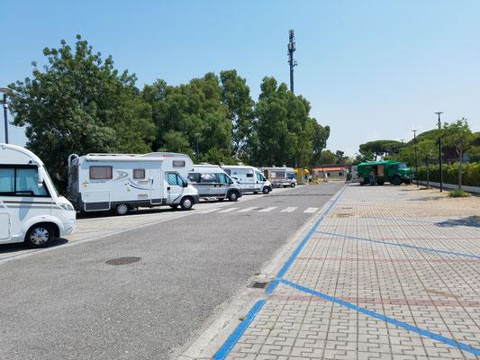 Parkplatz als Stellfläche