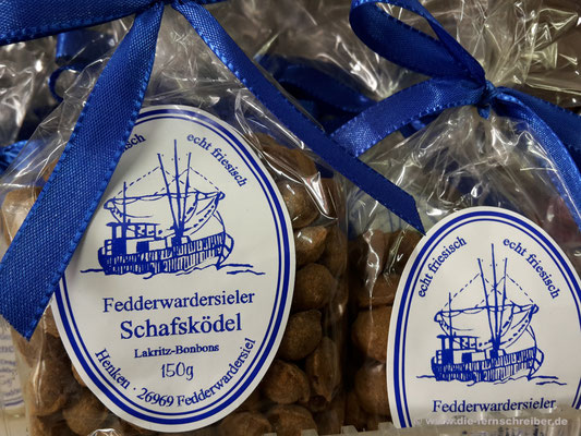 Fedderwardersieler Schafsködel (Lakritz-Bonbons)