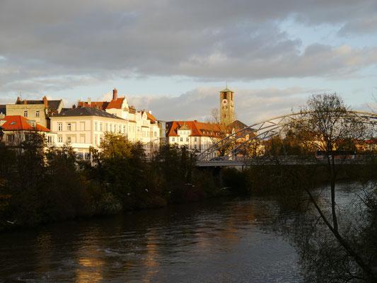 Abendstimmung am rechten Regnitzufer, dem Main-Donau-Kanal