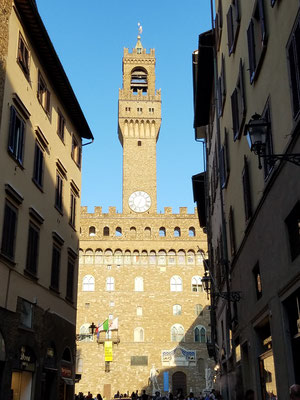 Palazzo Vecchio in der Abendsonne