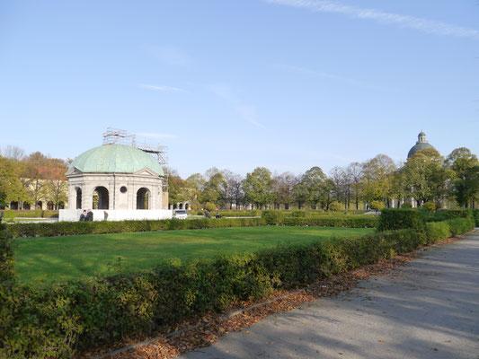 Im Hofgarten am Odeonsplatz, dem Garten der Münchner Residenz
