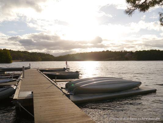 Abendstimmung am Långsjön-See