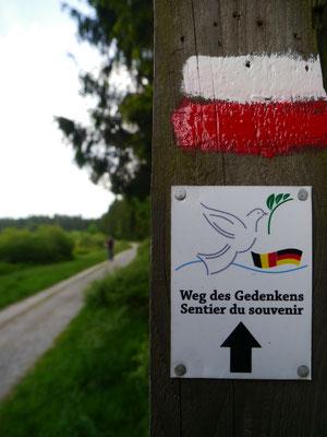 """""""Weg des Gedenkens"""" im deutsch-belgischen Grenzgebiet"""