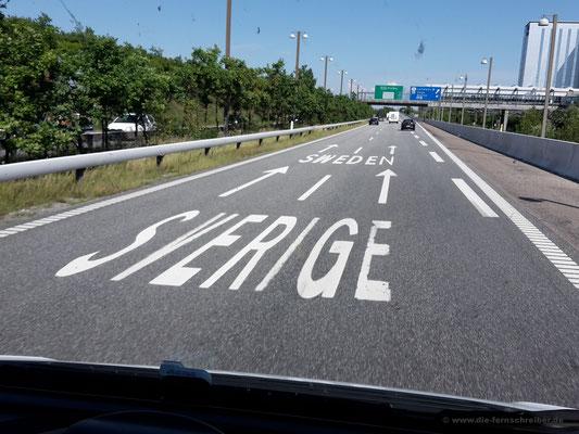 Ja, wir sind richtig! Autobahn in Kopenhagen