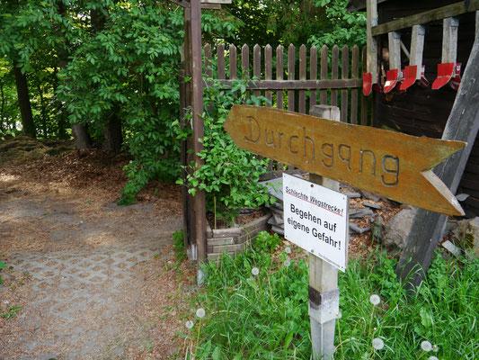 Ausgangspunkt am Campingplatz