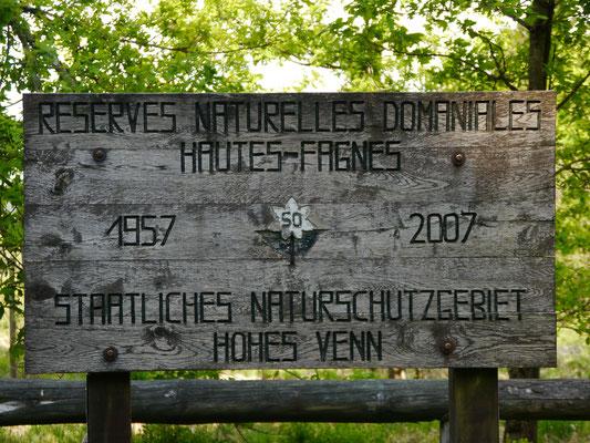 """Seit mittlerweile 61 Jahren """"Staatliches Naturschutzgebiet Hohes Venn"""""""