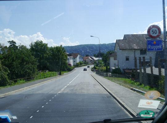 Ruggell Ortseinfahrt