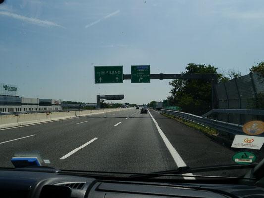 Richtung Mailand