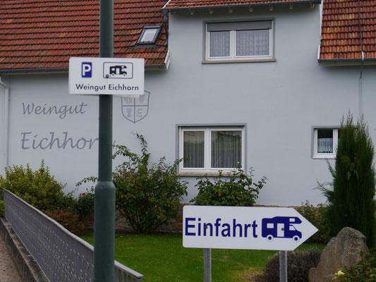 """Stellplatz """"Weingut Eichhorn"""""""
