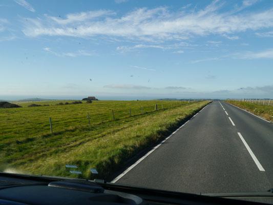 Fahrt Richtung Westen zunächst in die Küstenstadt Seaford