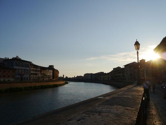 Gegenlichtaufnahme am Arno