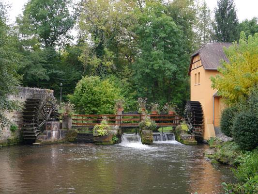 An der Wassermühle am Womo-Parkplatz