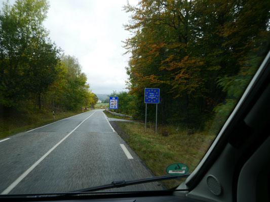 """Die französisch-deutsche Grenze """"im Nirgendwo""""..."""