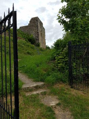 Schmiedeeisernes Tor zur Burgruine