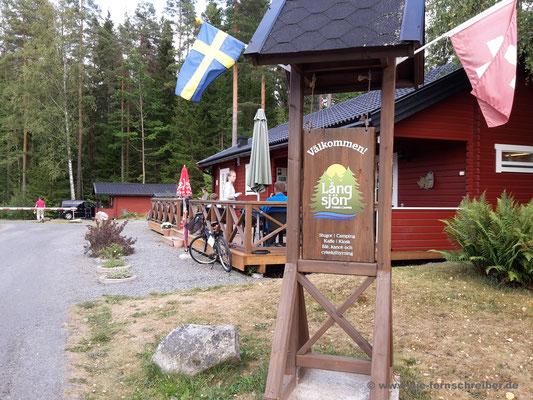 """""""Långsjön Stugor & Camping"""" in Ankarsrum zwischen Vimmerby und Västervik"""