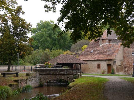 Wassermühle am Quartier du Bruch