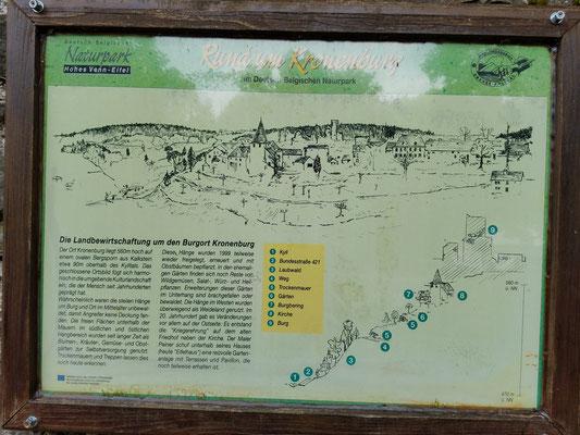Hinweisschild zu Kronenburg