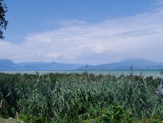 Sicht vom Wendehammer aus auf den See