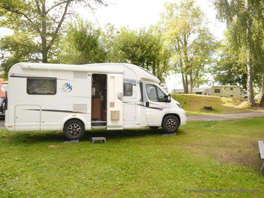 "Noch ist es trocken auf dem ""Sjöstugans Camping"" in Älmhult"