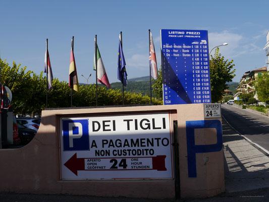 Stellplatz mitten in Garda