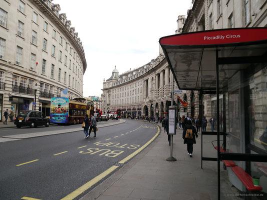 Kurz vor'm Piccadilly Circus auf der Regent Street