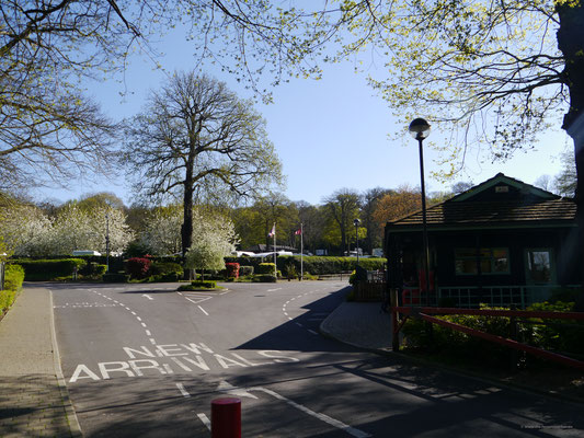 Ankunftsbereich des Campingplatzes Abbey Wood nahe London