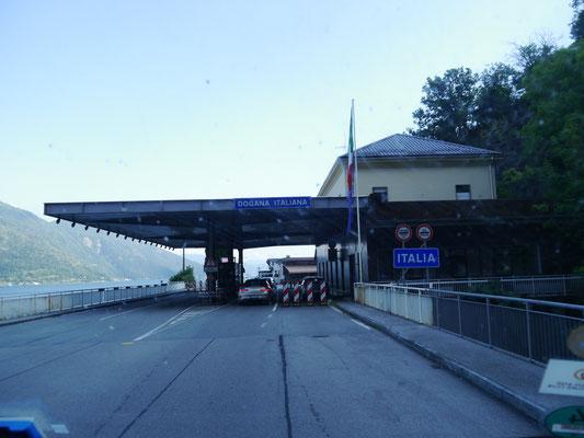 schweizerisch-italienische Grenze am Lago Maggiore