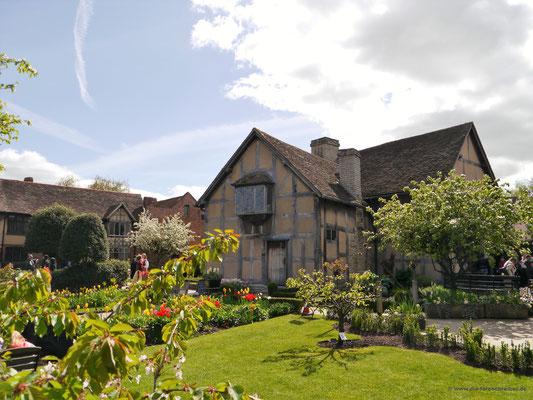 Shakespeares Haus rückwärtig gesehen