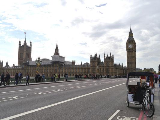 Auf der Westminster Bridge