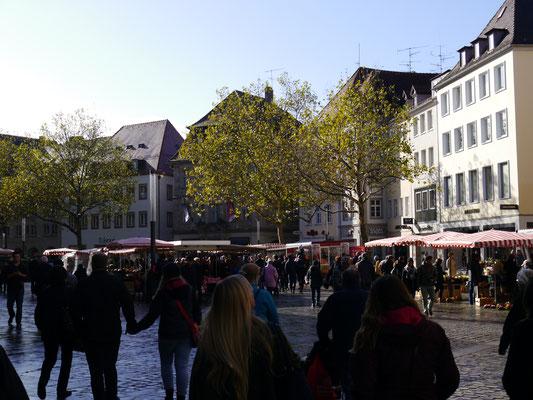 Grüner Markt genannter Marktplatz...
