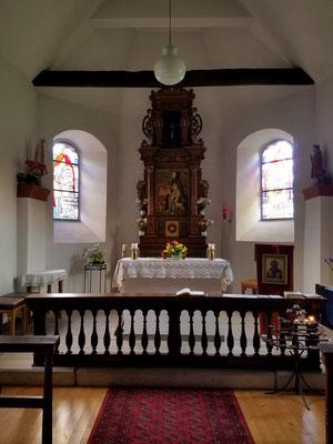 Das Innere der kleinen Brigida-Kapelle