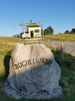 Stellplatz Büchelwiesen - Einfahrt