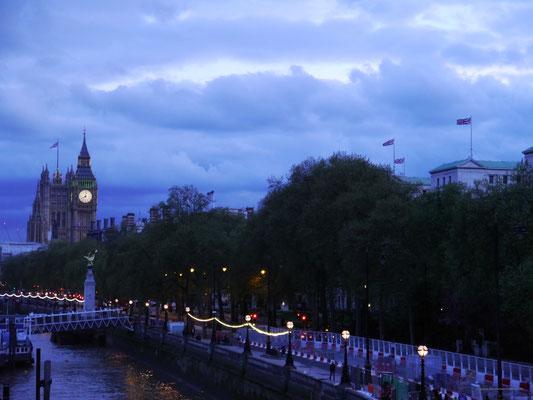 Unser letzter Blick auf London...