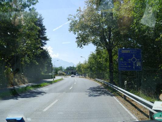 Auf dem Weg nach Schaan und Vaduz