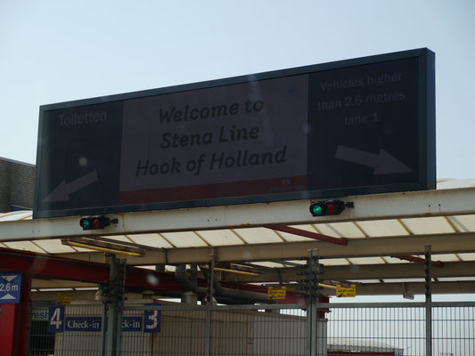 Check-In in Hoek van Holland