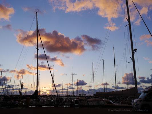 ... im Yachthafen von Varberg