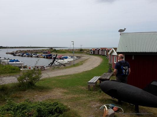 Norrebro hamn - ein winziger Fischerhafen
