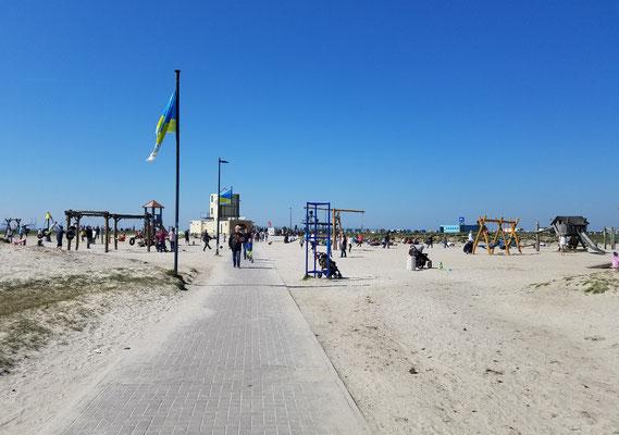 Sandtrand in Tossens