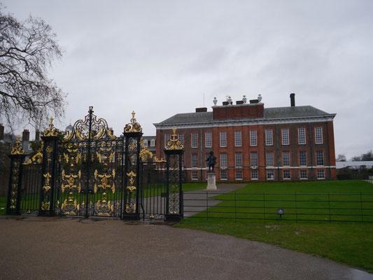 Kensington Palace in Kensigton Gardens