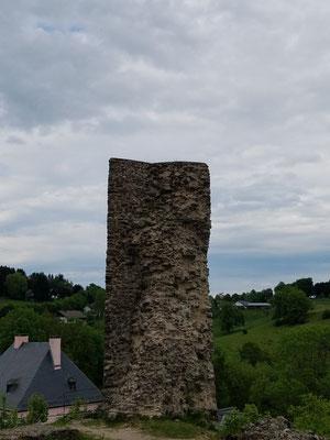 Markanter Rest der Burg
