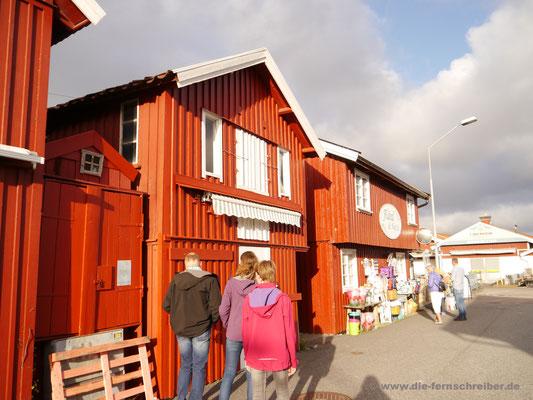 Smögens ehemalige Speicher- und Lagerhäuser, heute Läden