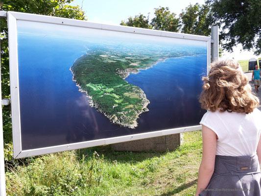 Plakat mit Luftaufnahme der Halbinsel