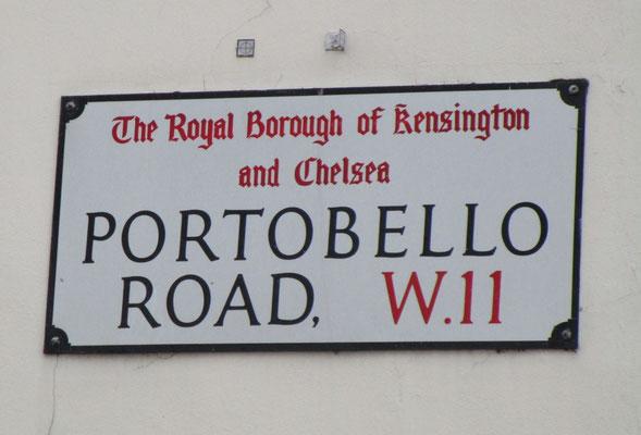 Straßenschild Portobello Road