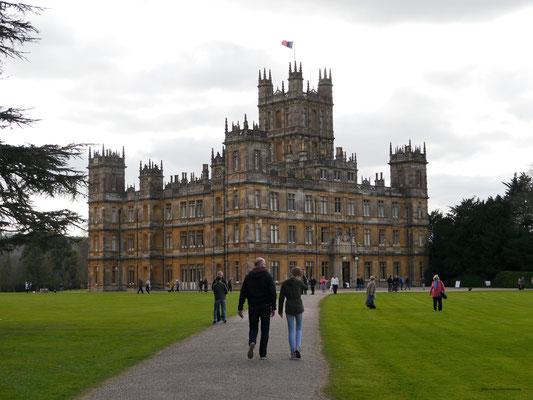 """Highclere Castle, Drehort der Außen- und vieler Innenaufnahmen von """"Downton Abbey"""""""