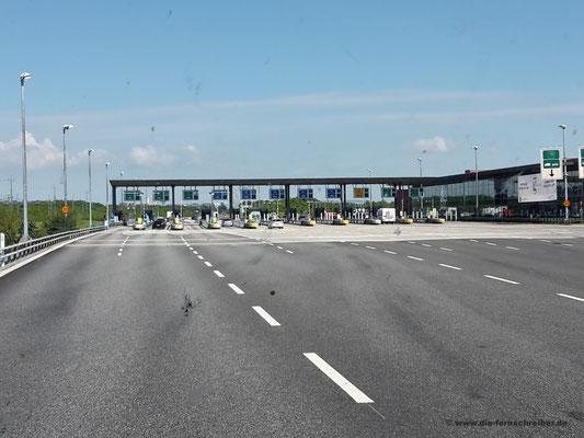 Mautstelle nach der Öresundbrücke