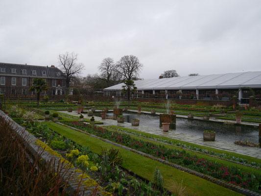 Schön angelegter Garten...