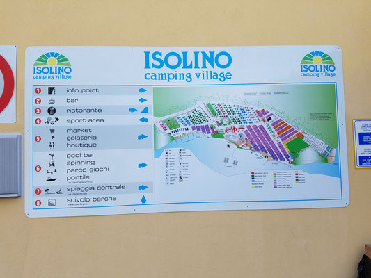 Lageplan des Platzes an Hauswand