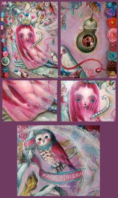 """2015  Oil on  canvas / F10/    部分 """"傷を負う人形~私は人形だと思っていた~"""" 個人蔵"""