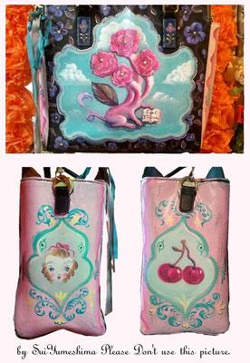 2015 既製品のかばんに絵をかきました / oil on bag